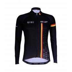 Cyclisme à Maillot manches longues BLACK/BELG.CHAMP - CUBO