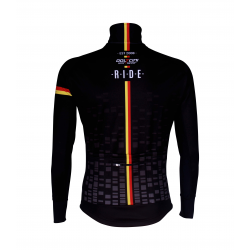 Cycling Jacket Winter PRO BLACK/BELG.CHAMP - CUBO