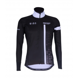 Cycling Jacket Winter PRO BLACK/WHITE - CUBO