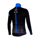 Cycling Jacket Winter PRO BLACK/BLUE - CUBO