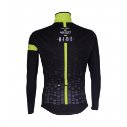 Cycling Jacket Winter PRO BLACK/FLUO YELLOW - CUBO