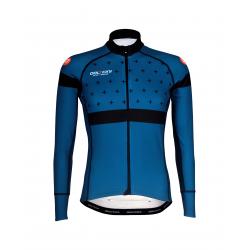 Cyclisme à Maillot manches longues BLACK/BLUE- BAKIO