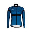 Cycling Jersey Long Sleeves BLACK/BLUE- BAKIO