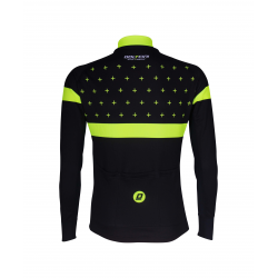 Cyclisme à Maillot manches longues BLACK/FLUO YELLOW - BAKIO