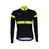 Cycling Jersey Long Sleeves BLACK/FLUO YELLOW - BAKIO