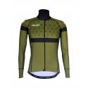 Cycling Jacket Winter PRO BLACK/KHAKI - BAKIO