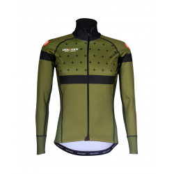 Cycling Jacket Winter PRO BLACK/KHAKI - BAKIO