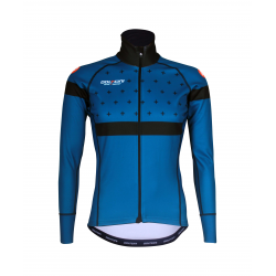 Cycling Jacket Winter PRO BLACK/BLUE - BAKIO