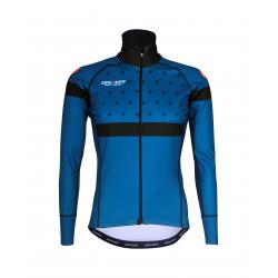 Cyclisme à Veste Winter PRO BLACK/BLUE - BAKIO