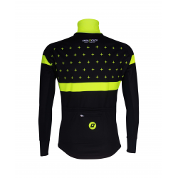 Cycling Jacket Winter PRO BLACK/FLUO YELLOW - BAKIO