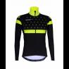 Cyclisme à Veste Winter PRO BLACK/FLUO YELLOW - BAKIO