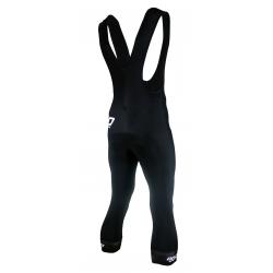 Cyclisme à Cuissard avec bretelles 3/4 - uni black with pad