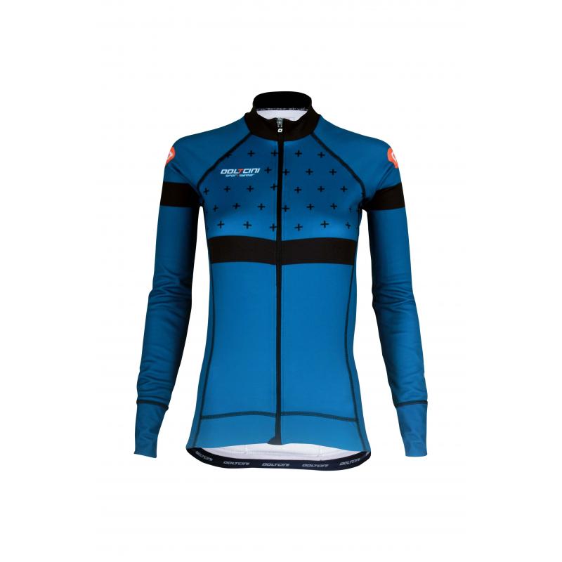 Cycling Jersey Long Sleeves BLUE - BAKIO