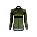 Cycling Jersey Long Sleeves KHAKI - BAKIO