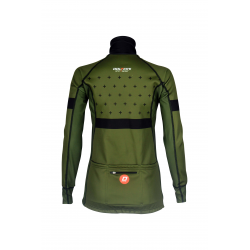 Cycling Lady Jacket Winter PRO KHAKI - BAKIO