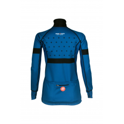 Cycling Lady Jacket Winter PRO BLUE- BAKIO