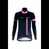 Cycling Lady Jacket Winter PRO BLACK/FLUO PINK - CUBO