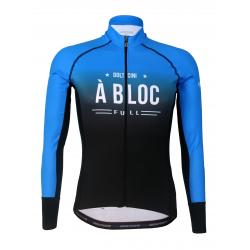 Колоездачно джърси с дълъг ръкав PRO Blue - A BLOC