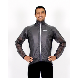 Cycling Rain Jacket grey watherproof - Mira Geel