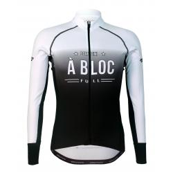 Колоездачно джърси с дълъг ръкав PRO White - A BLOC
