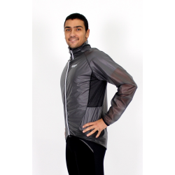 Cycling Rain Jacket grey waterproof - Mira Geel