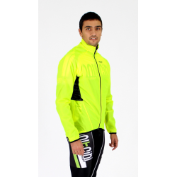 Cycling Rain Jacket fluo waterproof - Dry Storm