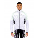 Cycling Rain Jacket white waterproof - Dry Storm