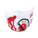 Face mask WHITE - RED