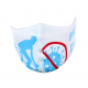 Face mask WHITE - BLUE