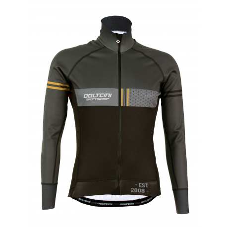 Cycling Jacket Winter PRO BLACK/GREY - VINTAGE