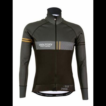 Cycling Jacket Winter PRO BLACK/GREY - VINTAGE