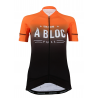Cycling Jersey Short Sleeves PRO ORANGE - A BLOC