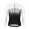 Cycling Jersey Long Sleeves SUMMER PRO A BLOC white