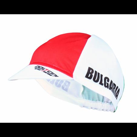 Колоездачна лятна шапка Долчини, Шампион, Бял/Червен