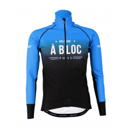 Cycling Jacket Winter PRO BLACK/BLUE - A BLOC