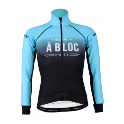 Cycling Jacket Winter PRO BLACK/TURQUOISE - A BLOC LADY
