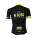 Cycling Jersey Short sleeves PRO fluo yellow - A BLOC