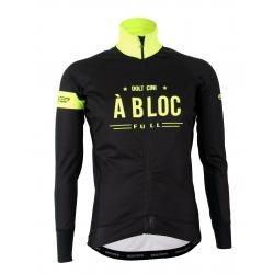 Cycling Jacket Winter PRO BLACK/FLUO YELLOW - A BLOC KIDS
