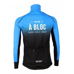 Cyclisme à Veste Winter PRO BLACK/BLUE - A BLOC KIDS