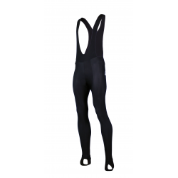 Cycling Bibtight Uni Black with pad - WATERPROOF
