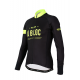 Cycling Jersey Long sleeves PRO fluo yellow - A BLOC