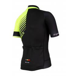 Cyclisme à manches courtes jersey PRO Fluo yellow - FORZA