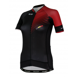 Cycling Jersey Short Sleeves PRO Bordeaux - FORZA lady