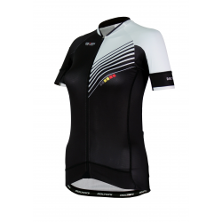 Cycling Jersey Short Sleeves PRO White - FORZA lady