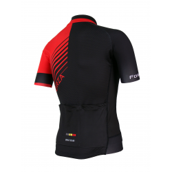 Cyclisme à manches courtes jersey PRO Red - FORZA KIDS