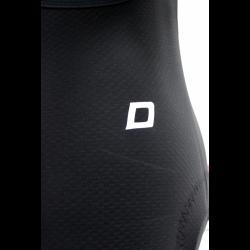 Cyclisme à Cuissard avec bretelles uni black NO pad - CHECKMATE LADY