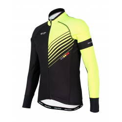 Cyclisme à Maillot manches longues PRO Fluo yellow - FORZA