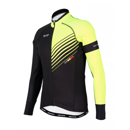 Cycling Jersey long sleeves PRO Fluo yellow - FORZA