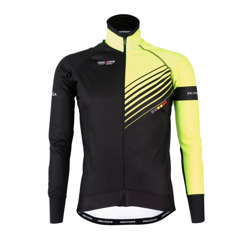 Cycling Winter Jacket PRO Fluo yellow- FORZA
