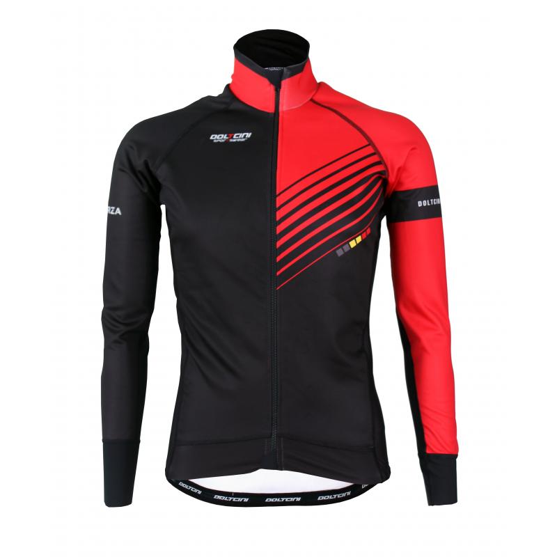 Cyclisme à Veste Winter PRO Red- FORZA